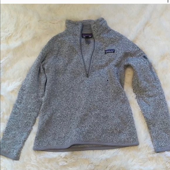 Patagonia better sweater 1/4 zip grey Small